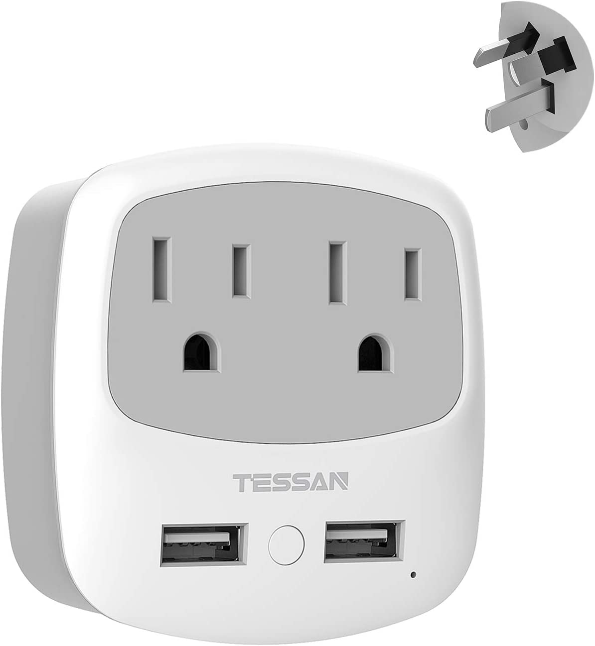 Use in China Argentina Fiji Solomon Type I AP-16 Fast Charging 2 USA Socket Compact /& Powerful Safe Dual USB /& USB-C Australia New Zealand Power Plug Adapter Travel with QC 3.0 /& PD by Ceptics