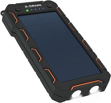 Cargador Solar 15000mAh Portátil Batería Externa para Moviles con ...
