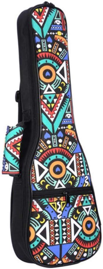 ZGHNAK Estuche acolchado de algodón para el ukelele con bolsa de mano, correa doble, para el ukelele Accesorios para partes de guitarra, azul-graffiti: Amazon.es: Instrumentos musicales