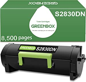 GREENBOX Compatible Toner Cartridge for Dell S2830dn S2830 593-BBYP GGCTW CH00D High Yield (Black,8,500 Pages)
