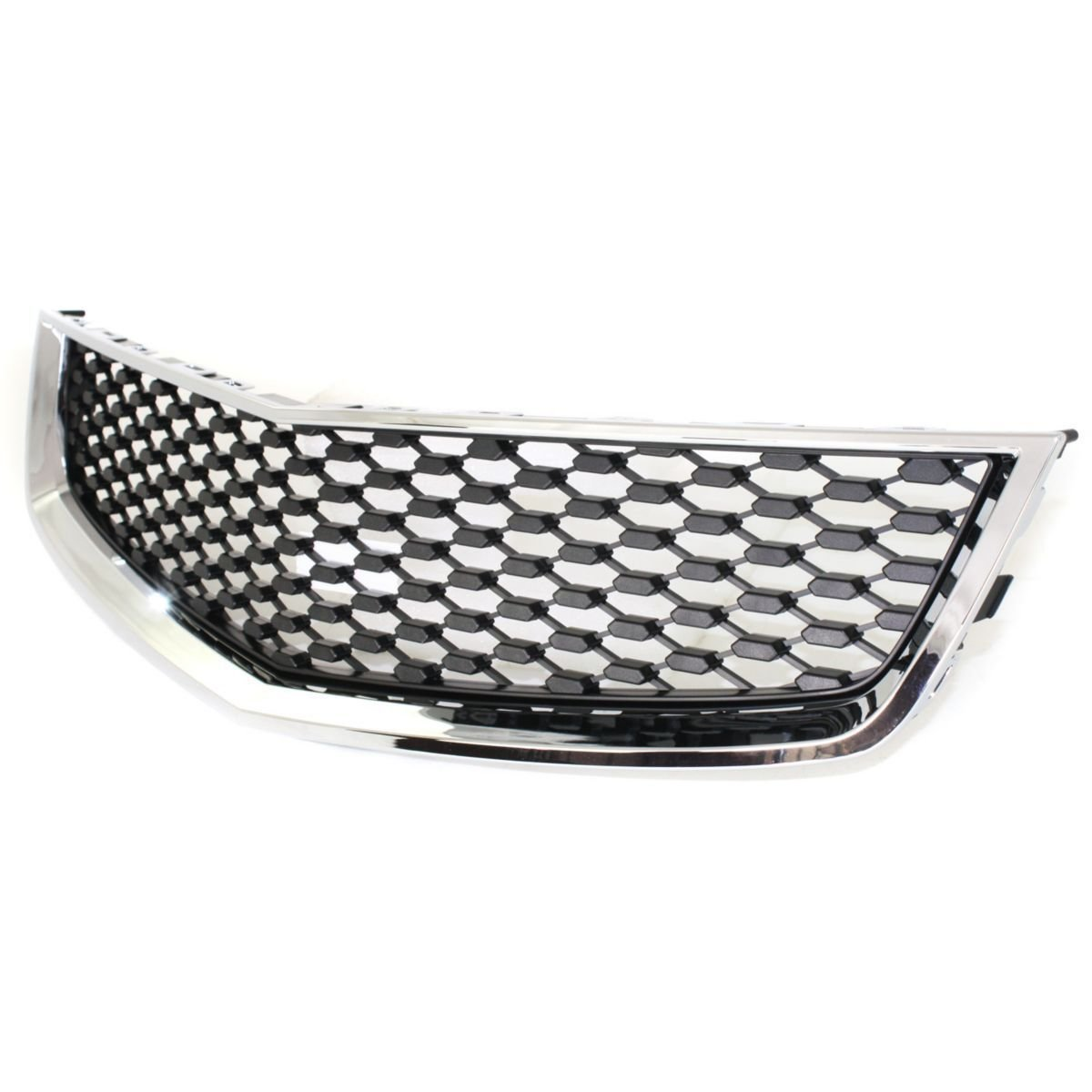 Elite7 Front Lower Grille CHROME Shell w//Black Insert Replacement for 10-15 Chevrolet Equinox GM1200621