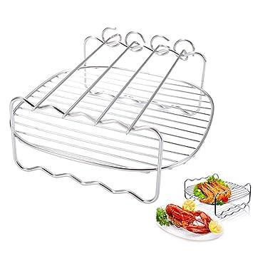 Bandeja de cocción de doble capa de 8 pulgadas, soporte de ...