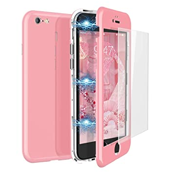 CE-Link Funda iPhone 6 Funda iPhone 6s y Cristal Templado iPhone 6 / iPhone 6s Carcasa Fundas para iPhone 6 / iPhone 6s 360 Grados 3 en 1 Magnética ...