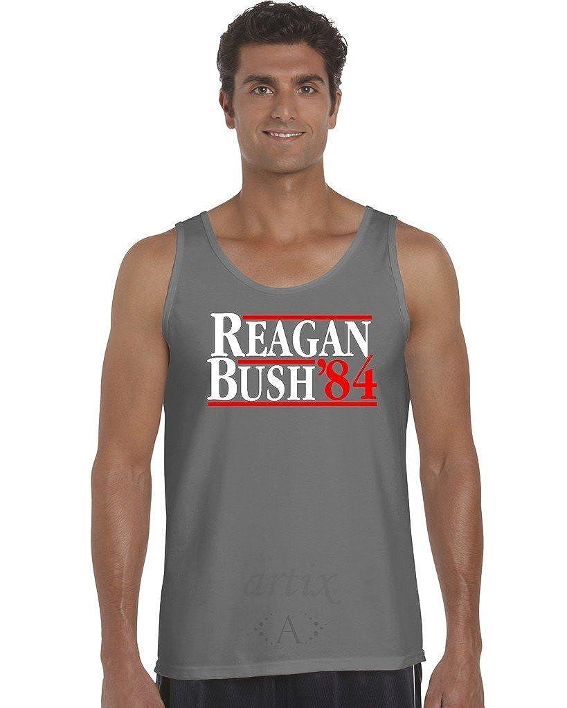 Reagan Bush `84 Mens Tank Top X-Large Charcoal Artix A