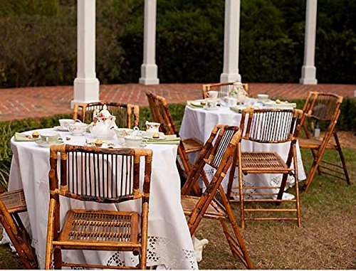 Beautiful Garden and Wedding Party Folding Chairs in Natural Bamboo