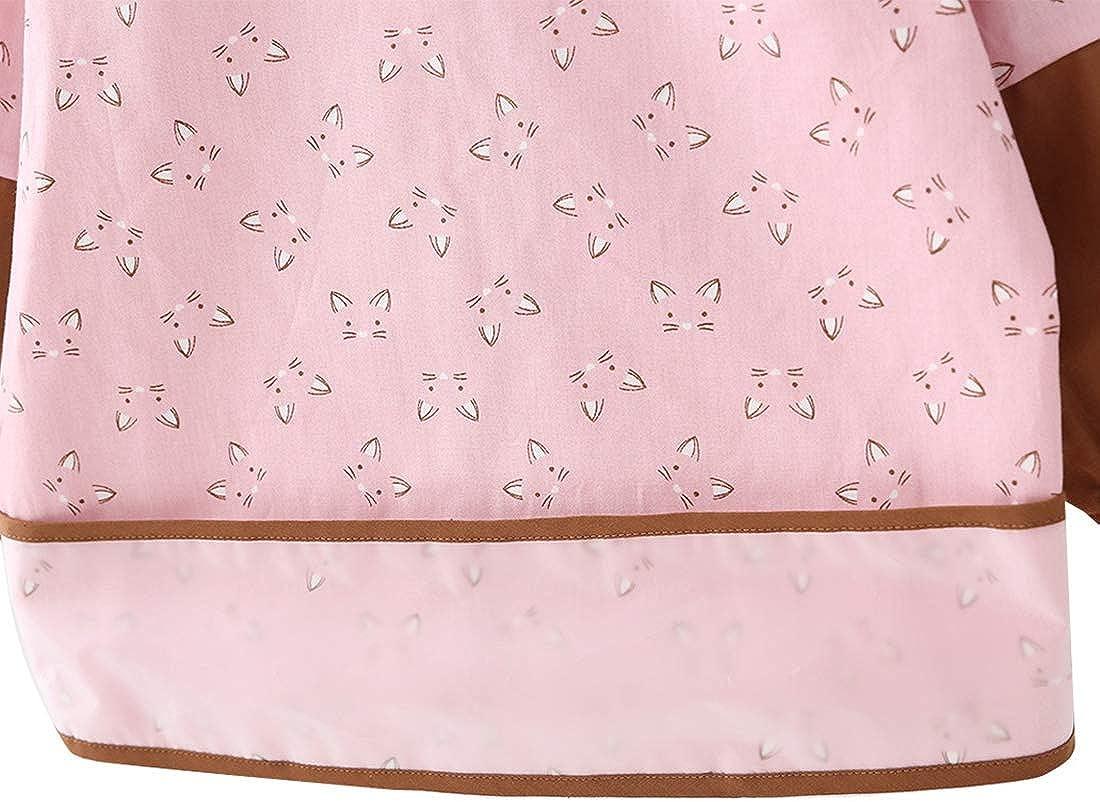 Happy Cherry /Ärmel L/ätzchen Baby Kleinkind Wasserdicht Bib Sch/ürze Cartoon Langarm L/ätzchen Kittel zum Essen Malen Spielen