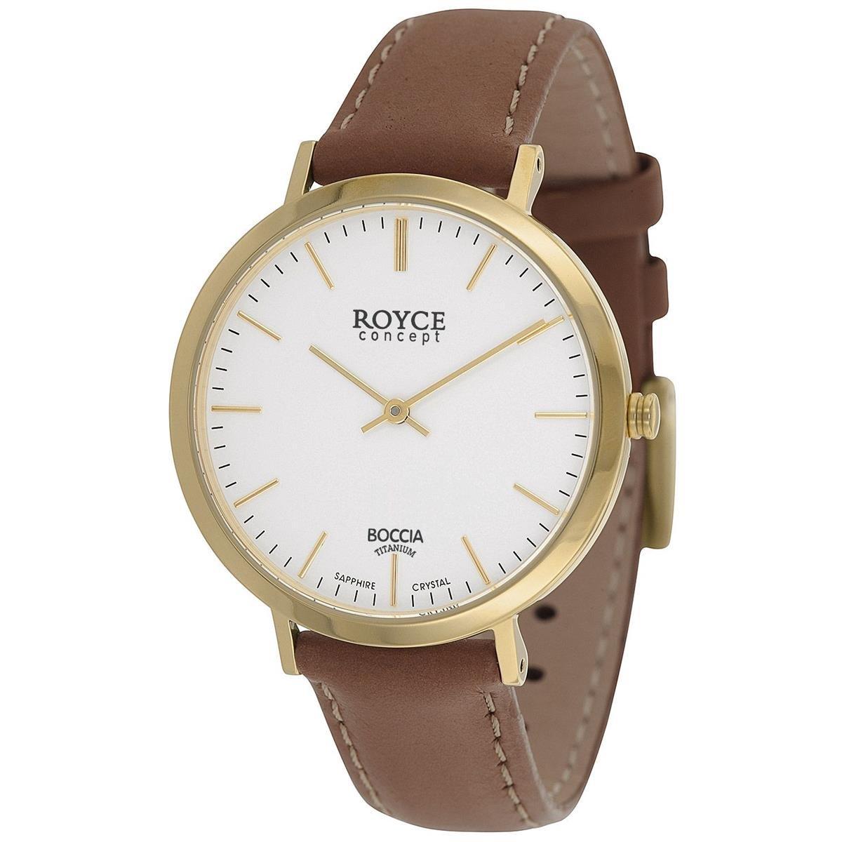 Boccia Reloj Digital para Hombre de Cuarzo con Correa en Cuero 3590-12