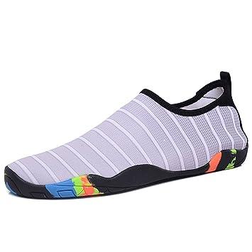 Amantes de los zapatos de agua Zapatos de natación cómodos de goma ...