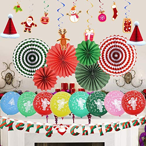 Christmas Decorations Indoor Hanging Festival Decoration Set for Christmas Party Photo Backdrop, Xmas Party Supplies (Christmas Cheesy)