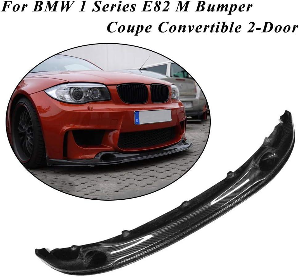 JC SPORTLINE fits BMW 1 Series E82 M Bumper Coupe 2-Door 2011-2018 Carbon Fiber Front Chin Spoiler Bumper Cover