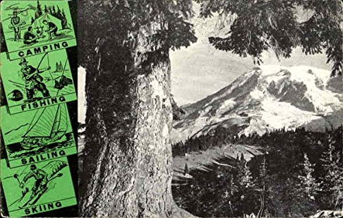 Washington State Invites You To The Year Round Playground Scenic Original Vintage Postcard