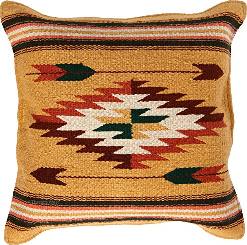 Cheap Threads West Cabo Pillow Covers 18 X 18, Hand Woven Southwest, Mexican, and Native American Styles. Hand Crafted Western Decorative Pillow Cases (Cabo 3)