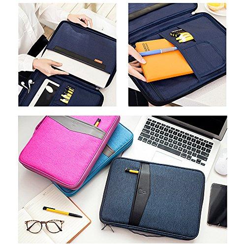 Jia HU 1Stilvolle Laptop-Aktentasche Tasche Unisex Portfolio Notebook Messenger Carry Geschäftsreise, Schule dunkelblau dunkelgrau