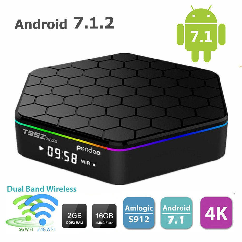 Android 7.1 TV Box,T95Z Plus Android Box 2GB+16GB Dual WIFI 2.4GHz/5GHz 1000M LAN Amlogic S912 Octa-Core Supporting 4K (60Hz) Full HD by doopen