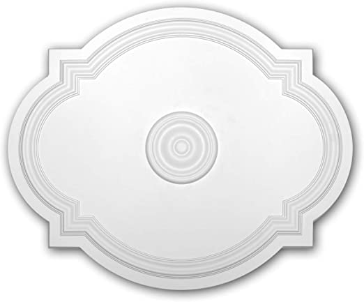 Zierelement PROFHOME 154010 T/ürumrandung Zeitloses Klassisches Design wei/ß