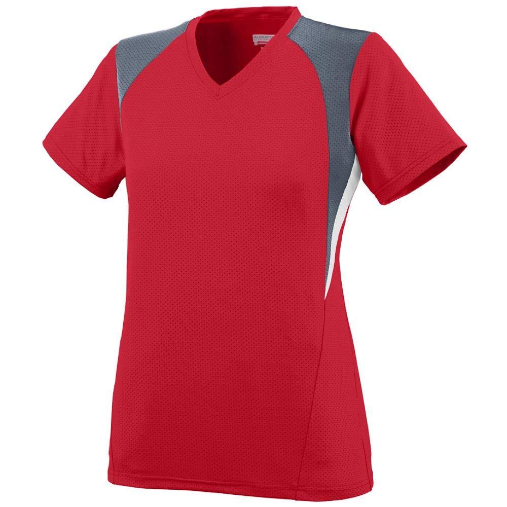 Augusta Sportswear Girls' Mystic Jersey M Red/Graphite/White