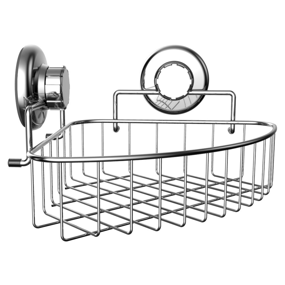 HASKO accessories - Corner Shower Caddy with Suction Cup - Stainless ...