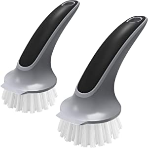 MR.SIGA Pot and Pan Cleaning Brush, Dish Brush for Kitchen, Pack of 2
