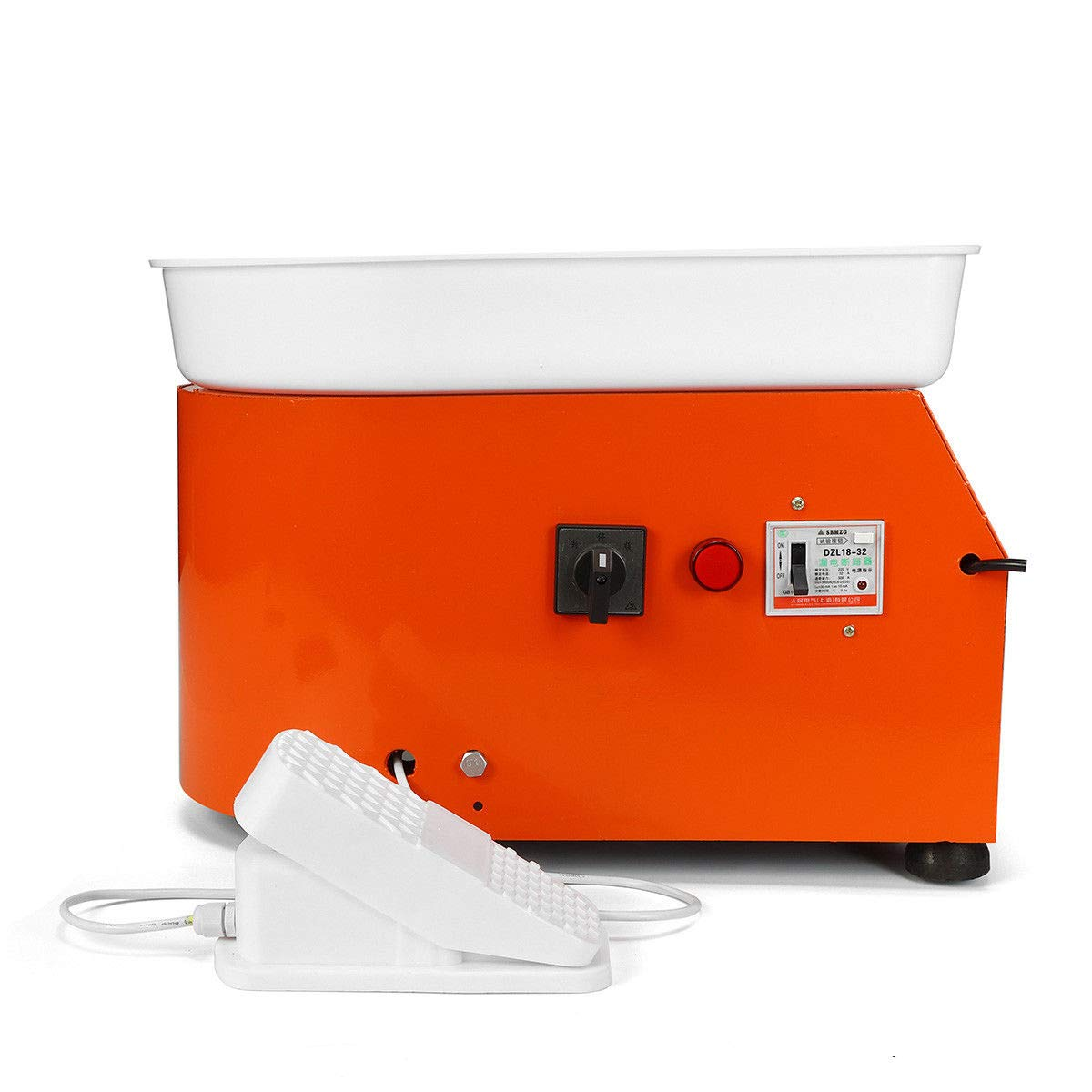 110V 350W Electric Pottery Wheel Machine with Foot Pedal Ceramic Work Clay Craft Electric Pottery Wheel DIY Clay Tool for Adults by RETERMIT (Image #2)