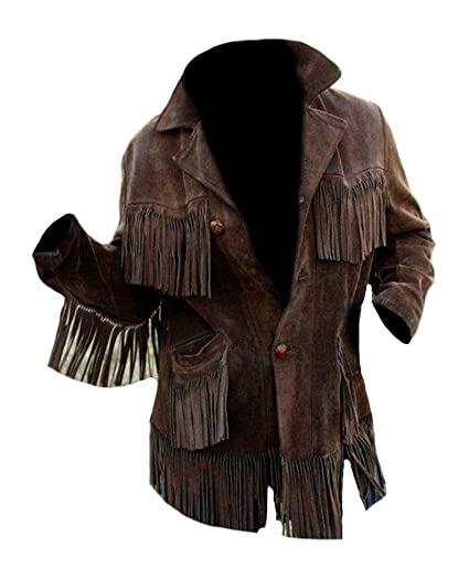 85f29b4a31f Classyak Men s Western Cowboy Fringed Coat Suede High Quality Jacket at Amazon  Men s Clothing store