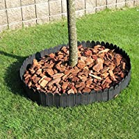 LJFYMX Vallas de Madera Jardin Vallado para jardín/Piquete Curvo de plástico Vallado para jardín Negro/Borde para césped Decoración de diseño de Patio Familiar Vallas para Jardin: Amazon.es: Hogar