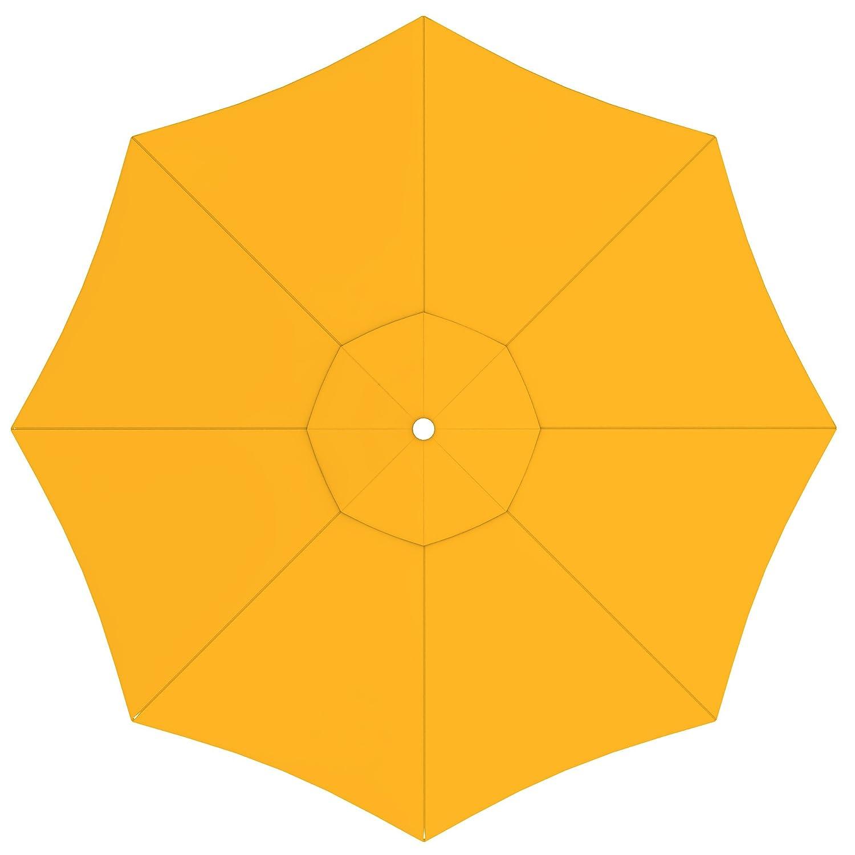 paramondo Tela de recambio para Sombrilla Parasol INTERPARA, incl. Air Vent (3,5m / redonda), amarillo