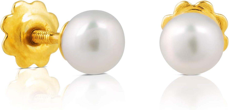 TOUS Pendientes de perlas Niña y baby, oro amarillo 18 kt