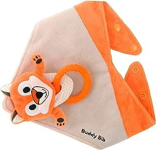 Buddy Bib The Makers of the Munch Mitt Introduce the, 3 in 1 Bandana Drool Bib - Stuffed Animal, Teething toy, Pacifier Holder - Felix Fox