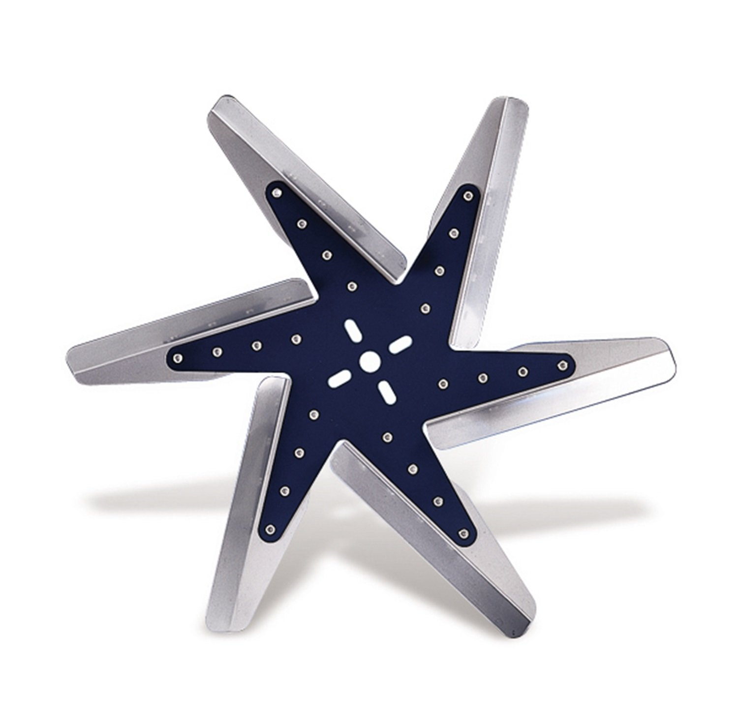 Flex-a-lite 1017 Dark Blue Star Aluminum Blade 17 Low Profile Belt Fan