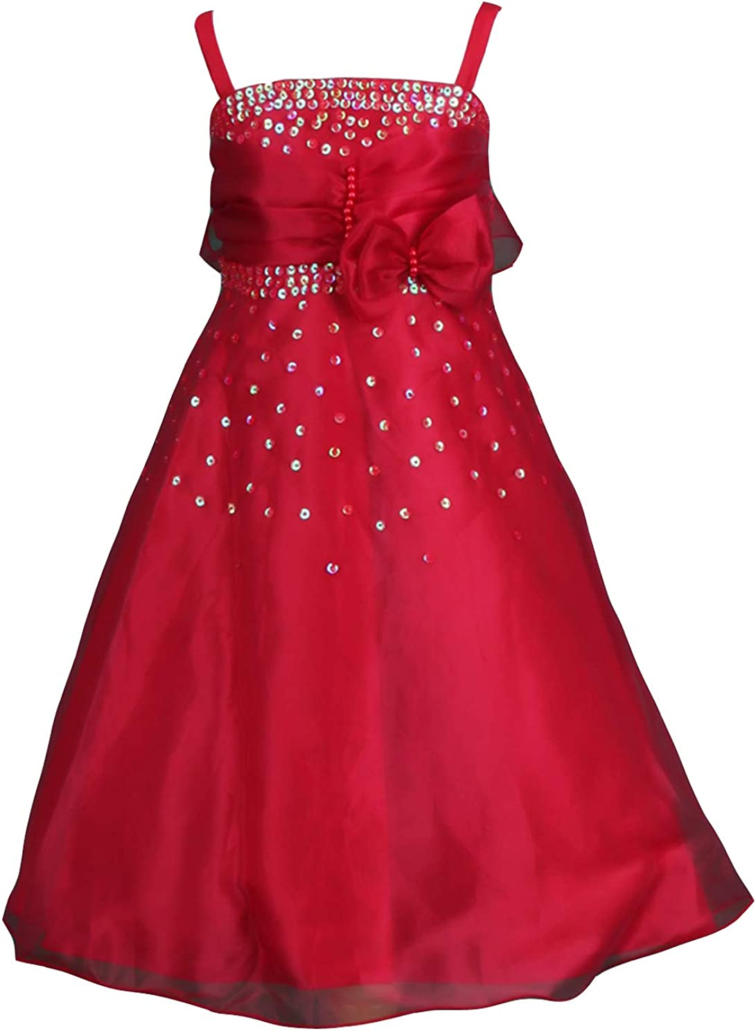 Pink Promise Pageant Dancing Chorus Prom Sequins Jr. Bridesmaid Flower Girl Dress with Shawl