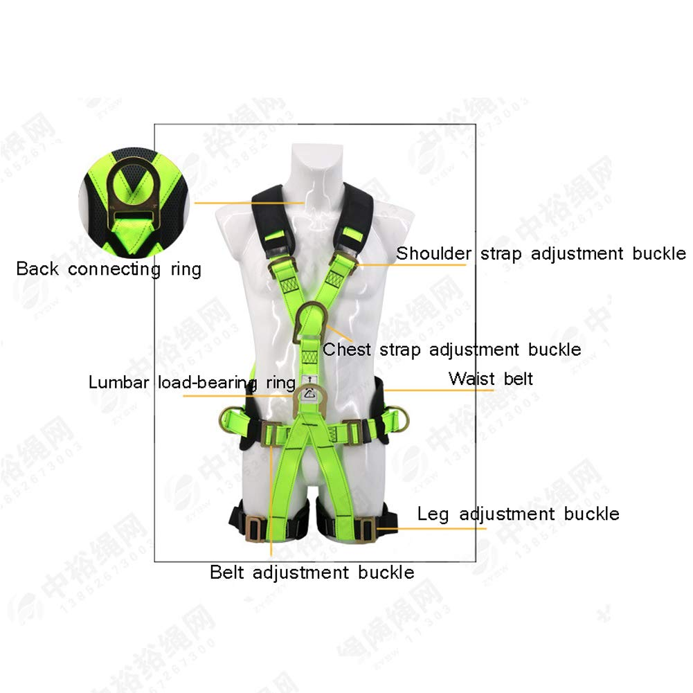 Safety Fall Protection Harness high Altitude Anti-Falling Sling Outdoor Expansion Climbing Rock Climbing Polyester Belt by HENRYY (Image #3)