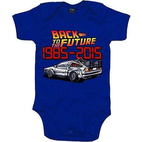 Body bebé Regreso al Futuro 1985-2015 - Azul Royal, 6-12 meses