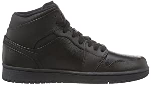 Men's Air 1 Retro High Leather Basketball Shoes Fashion Sneskers Black/Black/Black 8D(M)US=41EU