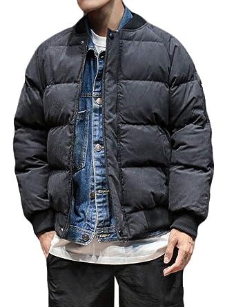 Keaac Mens Winter Outwear Hooded Qulited Cotton Down Jacket