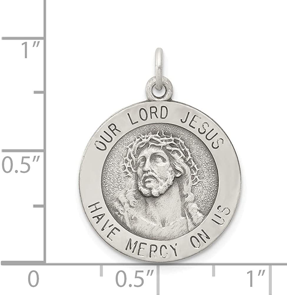 FB Jewels Solid 925 Sterling Silver Antiqued Ecce Homo Medal