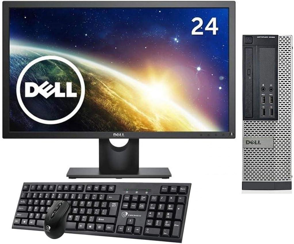 Dell Optiplex 9020 SFF Desktop Computer, Intel Quad Core i5-4570 3.2 GHz, 8GB DDR3 Ram, 500GB HDD, DVD, Windows 10 Professional, 24 inch Monitor. Free Keyboard,Mouse,WiFi Adapter(Renewed)