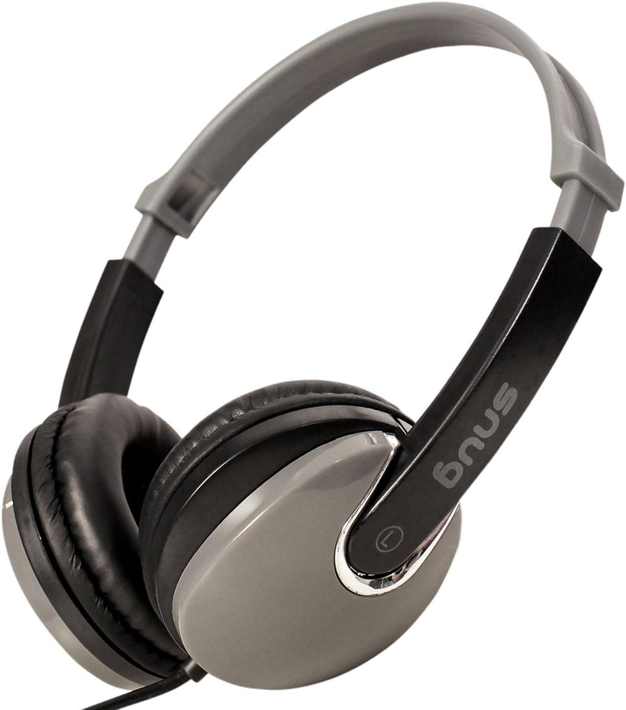 Snug Plug n Play Kids Headphones for Children DJ Style (Black)