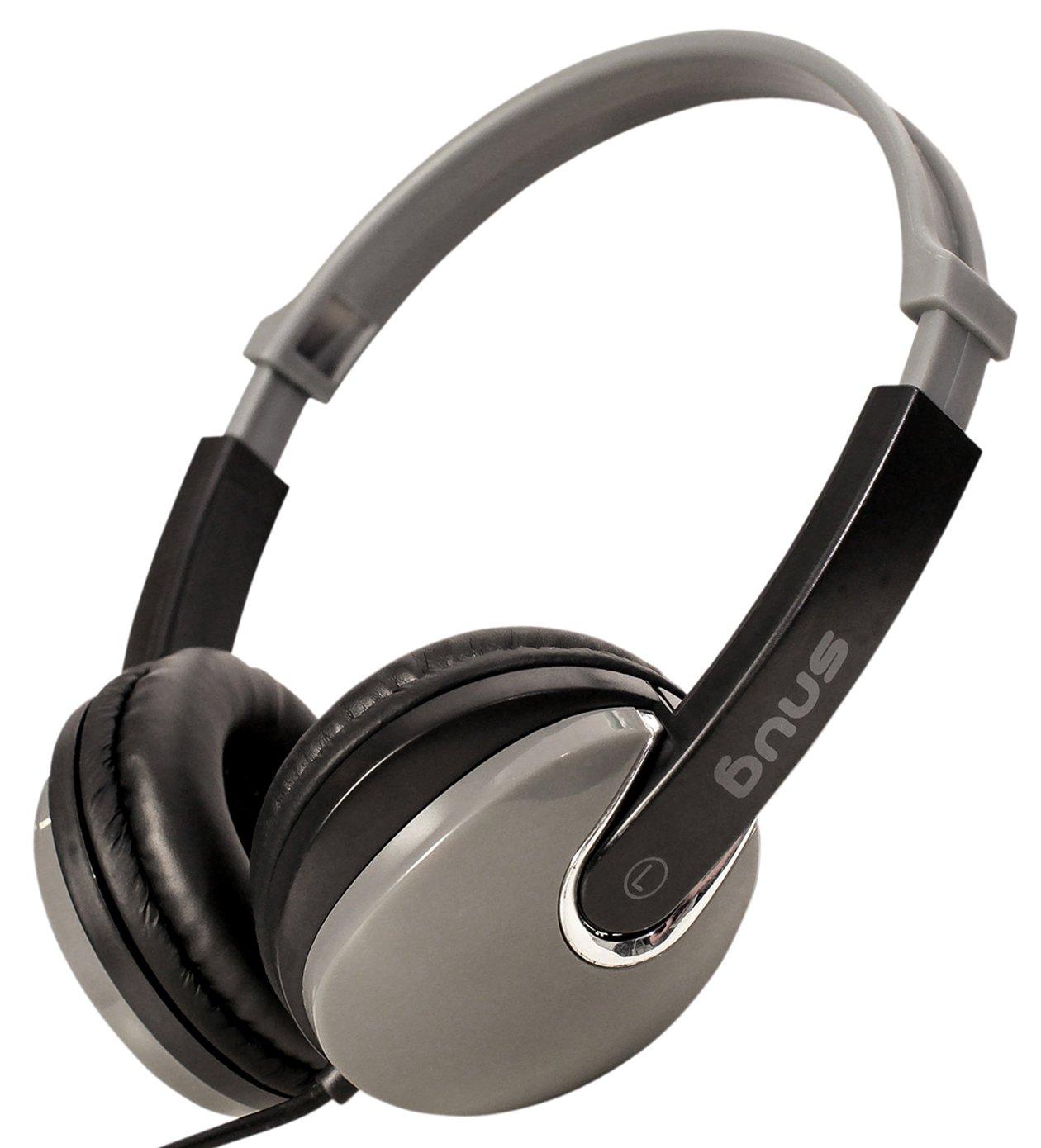 Black Snug Plug n Play Kids Headphones for Children DJ Style