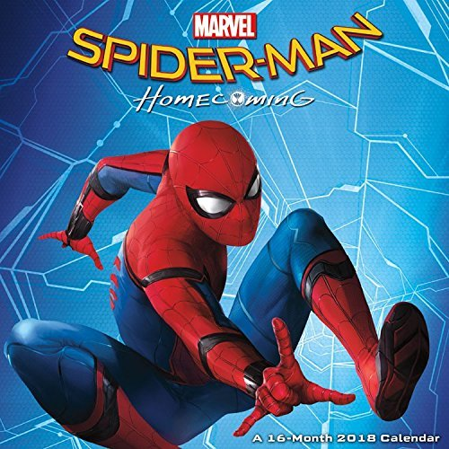 Marvel Spiderman Calendar 2018 -- Deluxe Spider-man Wall Calendar (12x12)