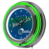 Trademark Global NBA Dallas Mavericks Chrome Neon Clock, One Size, Chrome