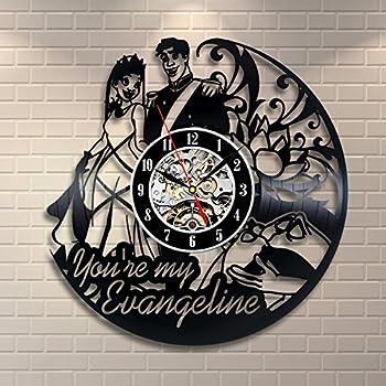 office clock wall. Princess Tiana Vintage Office Decor Vinyl Record Clock Wall Art Wedding Handmade R