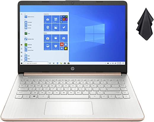 2021 Newest HP 14-inch HD Non-Touch Laptop, Intel 2-Core N4020 up to 2.8 GHz, 4 GB RAM, 64 GB eMMC, WiFi, Webcam, Bluetooth, Win 10 S with Office 365 for 1 Year, Rose Gold+ Oydisen Cloth