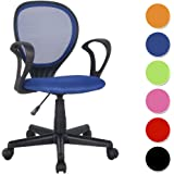SixBros. Bürostuhl Drehstuhl Schreibtischstuhl Blau - H-2408F/2059
