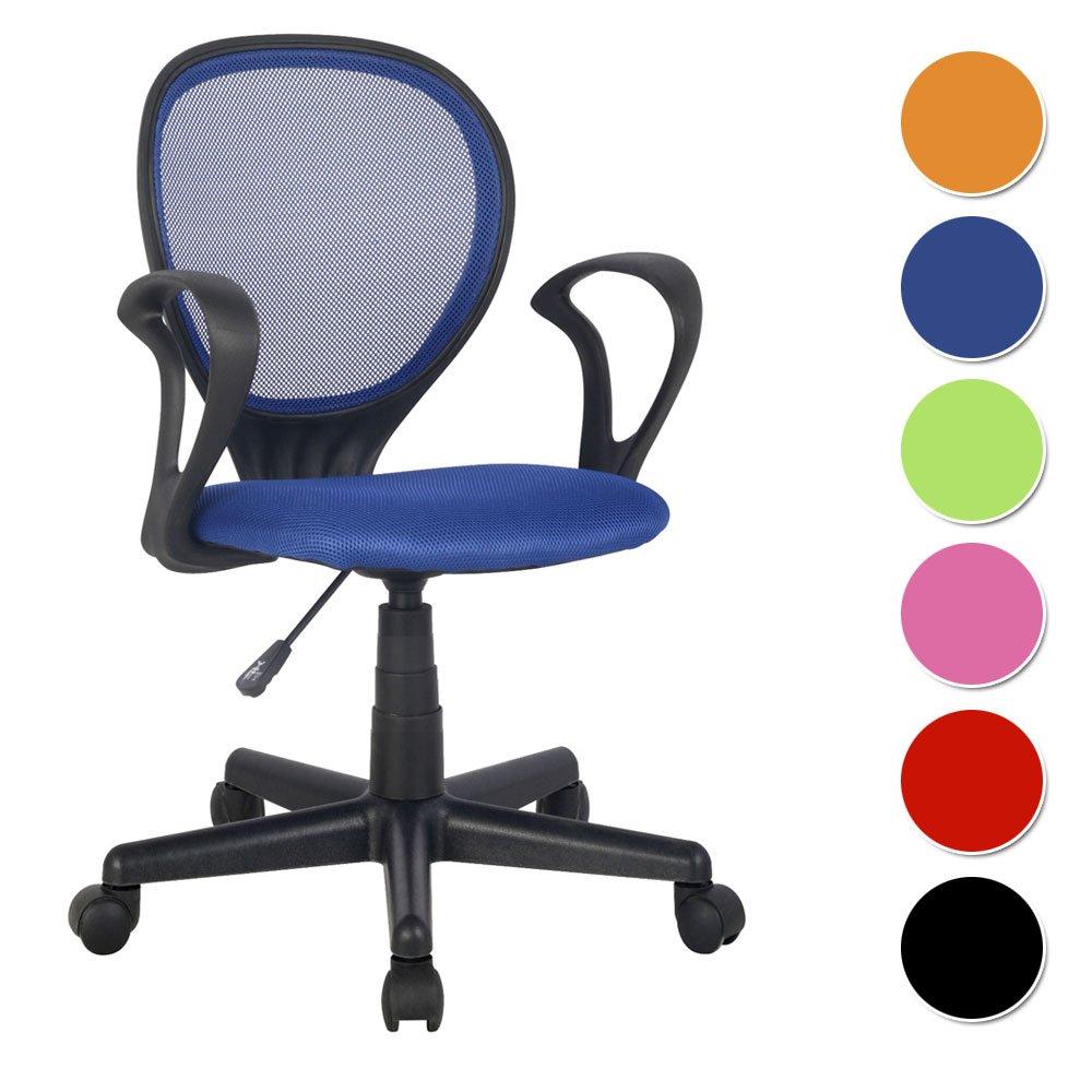 SixBros. Chaise de Bureau Bleu - H-2408F/2059 product image