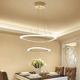 2 Anillo 36W LED Colgante de luz Regulable con control ...