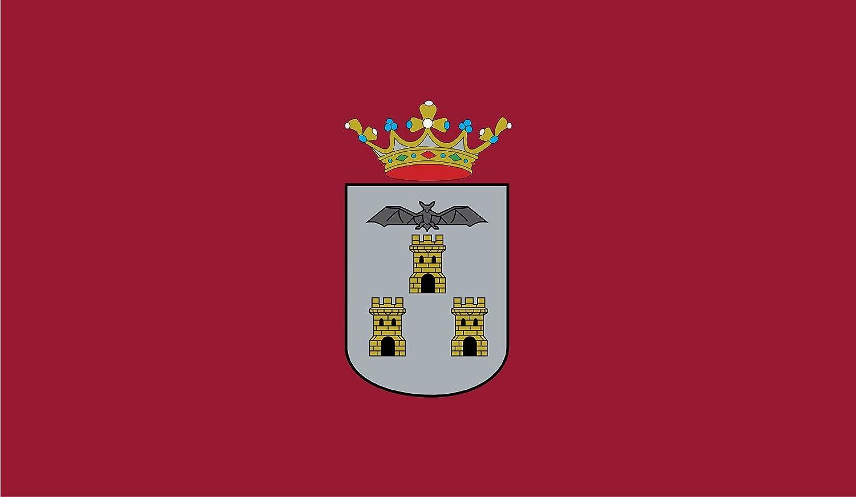 DIPLOMAT-FLAGS Ciudad de Albacete, en Albacete España Bandera   Bandera Paisaje   0.06m²   20x30cm Banderas de Coche: Amazon.es: Jardín