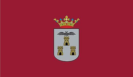 DIPLOMAT-FLAGS Ciudad de Albacete, en Albacete España Bandera | Bandera Paisaje | 0.06m² | 20x30cm Banderas de Coche: Amazon.es: Jardín