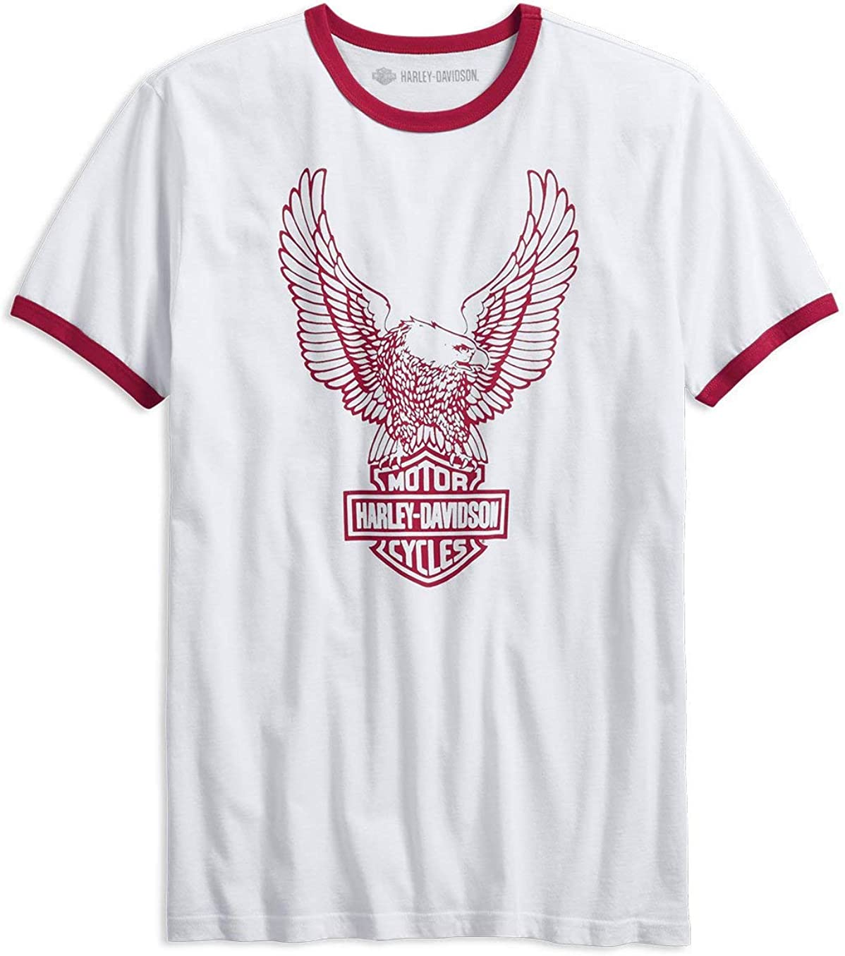 HARLEY-DAVIDSON® Mens Retro Eagle Logo Slim Fit tee - 99212-19VM: Amazon.es: Ropa y accesorios