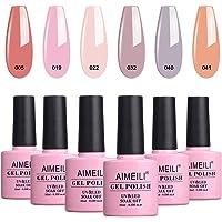 Aimeili Soak Off Uv Led Gel Nail Polish Multicolour/Mix Colour/Combo Colour Set Of 6Pcs X 10Ml - Kit Set 22