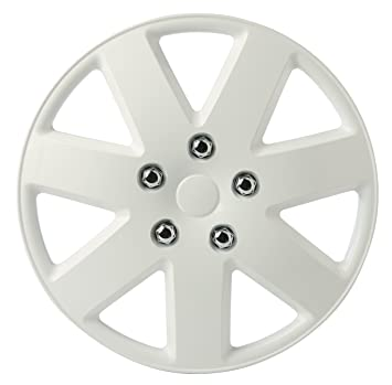 Amazon.com: SUMEX 505089W Hub Cap (Original CAR+ Set of 4 Silverstone White Color, Beautiful Design, Easy Installation, Universal fit 13